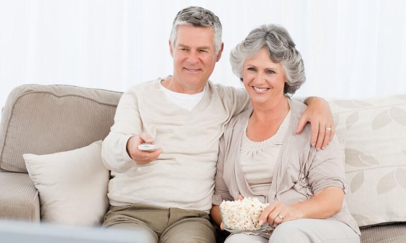 TV watching couple