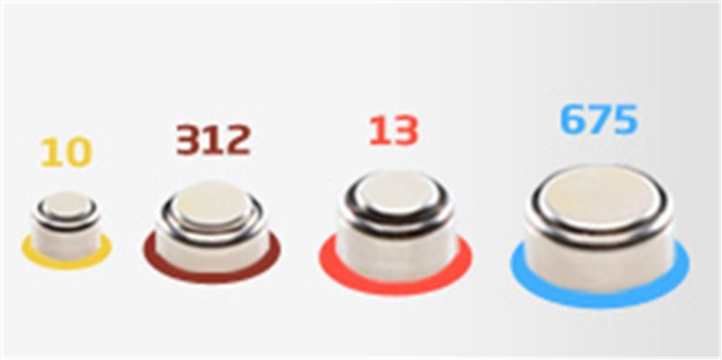 hearing aid batteries sizes and colours