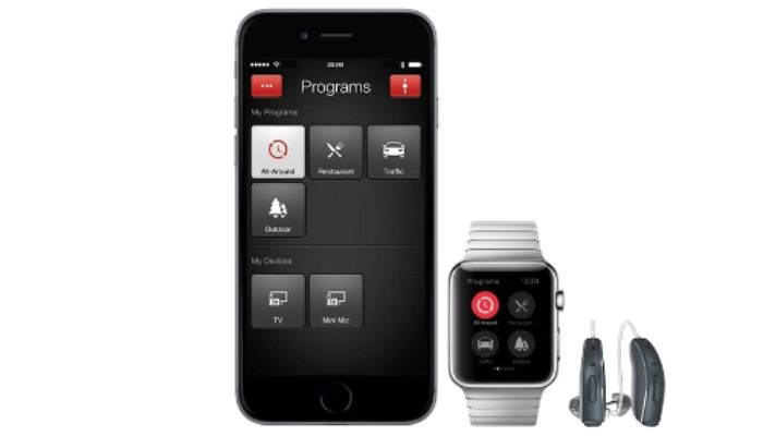 iPhone, apple watch and Linx hearing aids